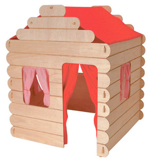 Log Cabin Wooden Indoor Play House pic